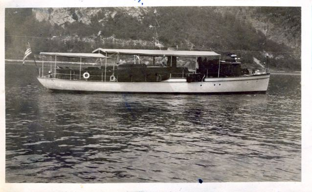 This an old picture of mygrandfather'sa boat, The Edwina""