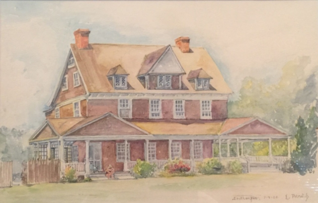 A painting of the Zirinsky House, courtesy of Bill Zirinsky and family