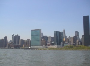 The UN as we went by