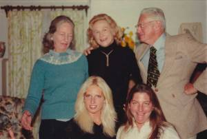 Ham at right with his wife Sarah, his sister Barbara, his daughter Cecile and niece, Vari