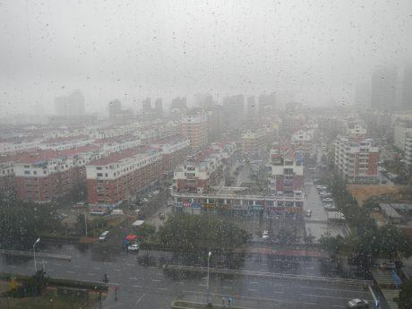 WeiHai in the rain Ocoter 2016