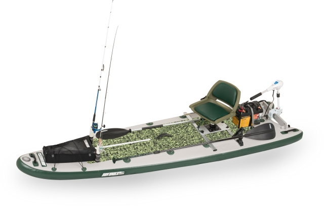 This is a picture picture of what our Sea Eagle FishSUP 12.6fs will look like when fully rigged